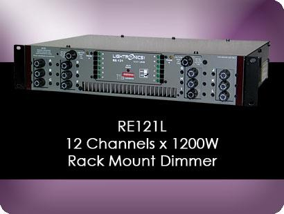 RE121L Rack Mount Dimmer