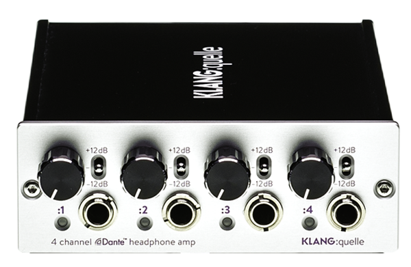 4 Channel Dante™ Network Headphone Amp