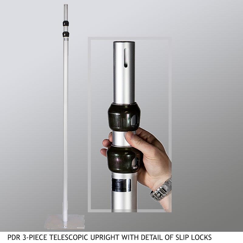 PDR 3-Piece Telescopic Upright