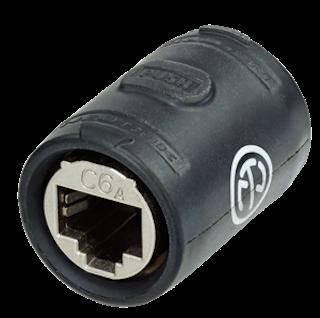 etherCON CAT6A adapter: NE8FFX6-W