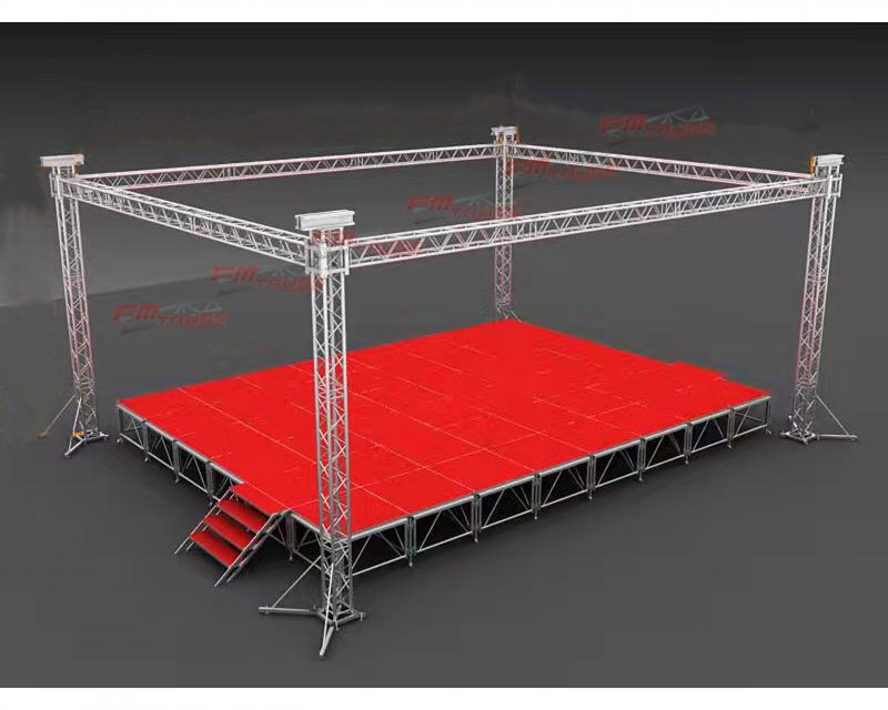 Truss Box with Stage,Truss System,Guangzhou Fengming Audio Equipment Co.,Ltd