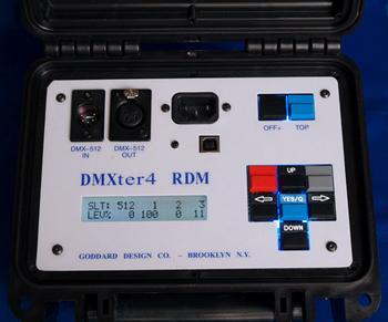 DMX 512 - RDM Tester from Goddard Design.