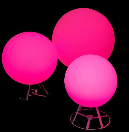 RGB LED Spheres, RGB LED Globes, Hanging LED Spheres, LED Lights
