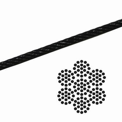 7x19 Black Galvanized Aircraft Cable   Aircraft Cable-Black   Aircraft Cable