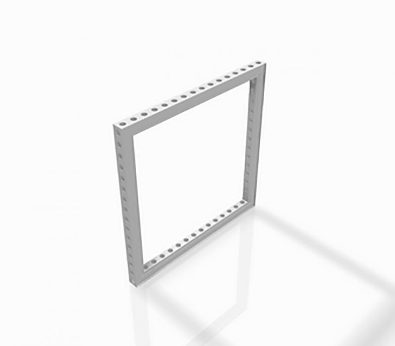 Straight Frames: B62� Frame [++++ X ++++ Mm] Holes D30 Ano