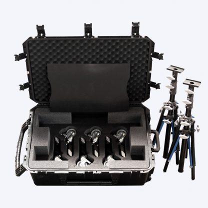 DD Black Stand Kit for Sliders 2-Black Dana Dolly 1 Rise Stand w/Top Channel w/ 2 R/M Legs (Black Alum Legs) & SKB Case (BLACK WHEEL ADAPTORS - NOT INCLUDED) - American Grip, Inc.