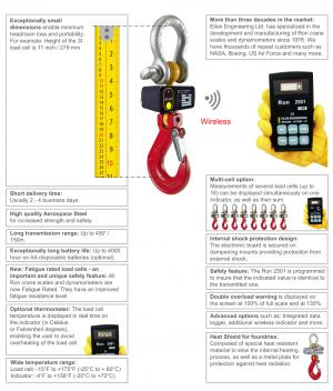 Ron 2501 Hook Type Wireless Crane Scale