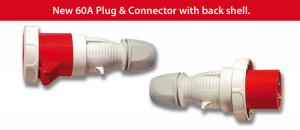 60A Plug and Connector with Back Shell