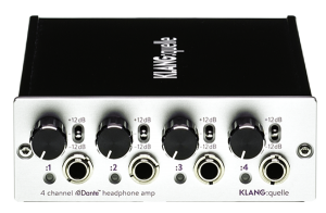 4 Channel Dante™ Network Headphone Amp