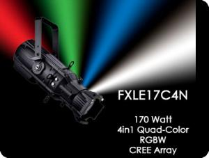 FXLE17C4N  Dimmable RGBW LED  Ellipsoidal Lighting Fixture