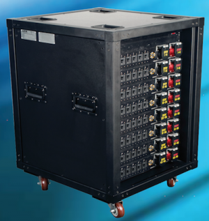 """Presidential"" Rack, 400 Amp PowerRACK with (48) 120 VAC or 208 VAC Circuits and Metering"