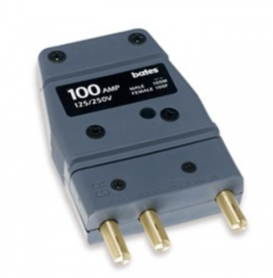 Bates Stage Pin (100A / 125V) Male Inline
