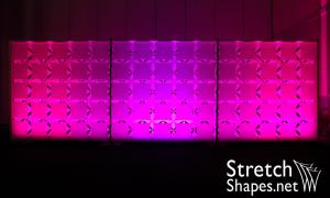 Layered Vector Grid, 30' x 10' Pipe & Base Mounted - Stretch Shapes
