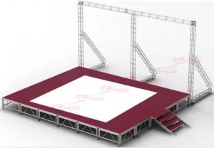 Exhibition Truss with Stage,Truss System,Guangzhou Fengming Audio Equipment Co.,Ltd