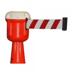 Retractable Cone Topper Red and White 30 Ft   Traffic Safety Zone