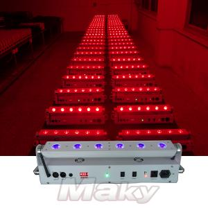 6pcs led battery power wireless dmx wall washer - LED wall washer series - Guangzhou Maky Stage Light Co., Limited