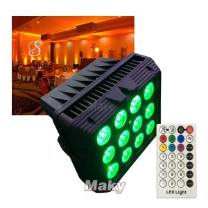 Waterproof wireless par can with battery 12pcs 18w 6in1 - Console series - Guangzhou Maky Stage Light Co., Limited