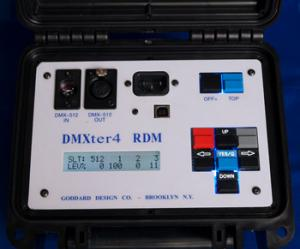 DMX 512 - RDM Tester from Goddard Design.