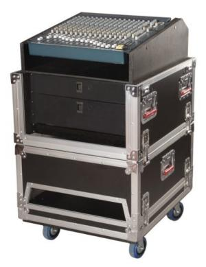 14U Top, 6U Side Road Console Rack-G-TOUR-GRC-1406 - Gator Cases