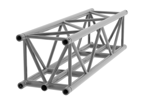 extra bottom chord, suspension of LED wall, square format truss, 5-point truss